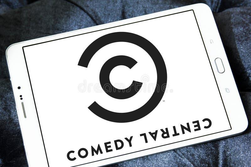 Logotipo central de la cadena de televisión de la comedia imagenes de archivo