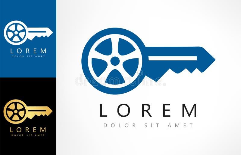 Logotipo chave do carro ilustração royalty free