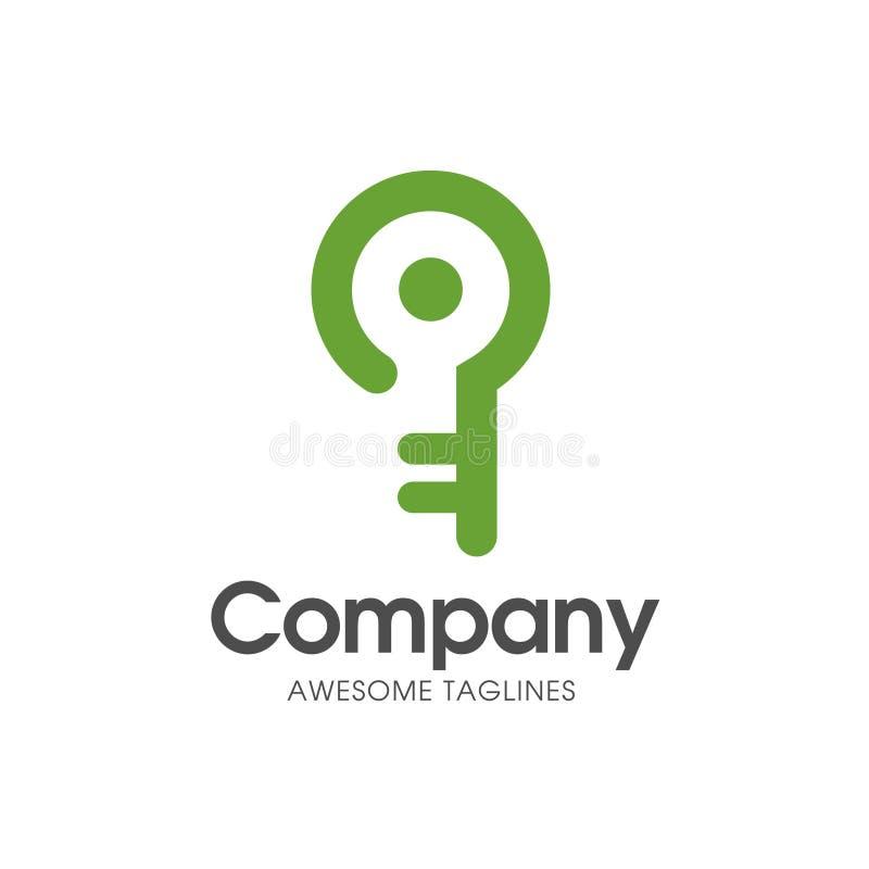 Logotipo chave esperto criativo ilustração stock