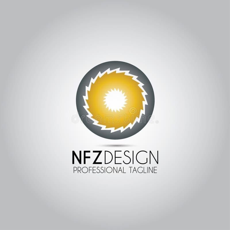 Logotipo circular de la plantilla que asierra stock de ilustración