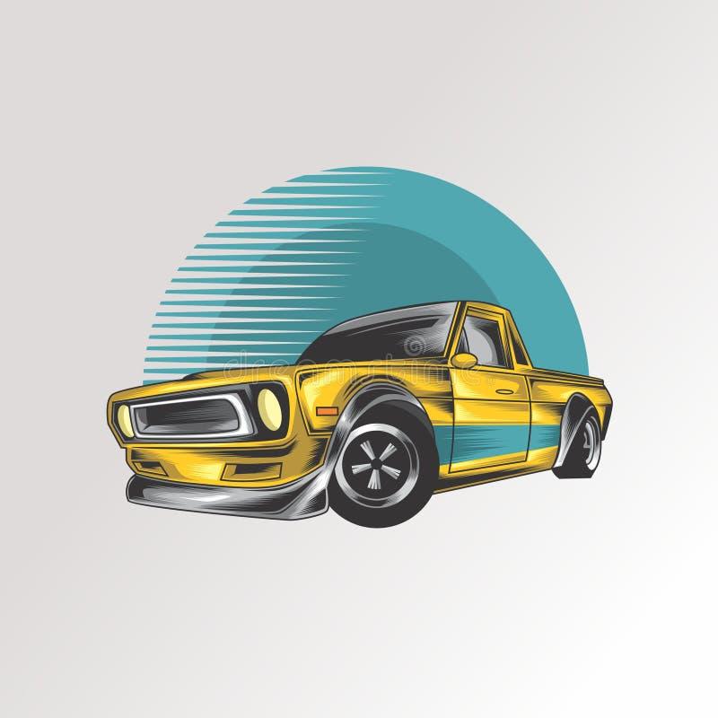 Logotipo clássico do carro do músculo ilustração royalty free