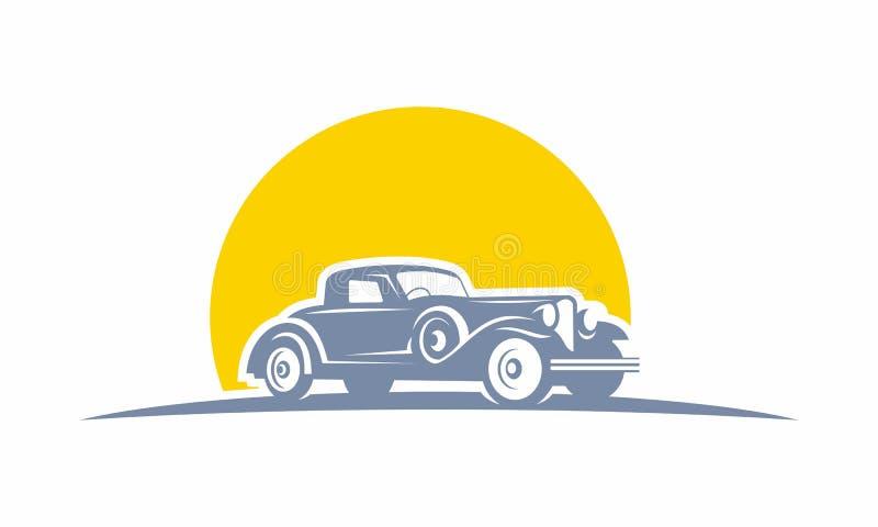 Logotipo clássico do carro retro imagem de stock royalty free