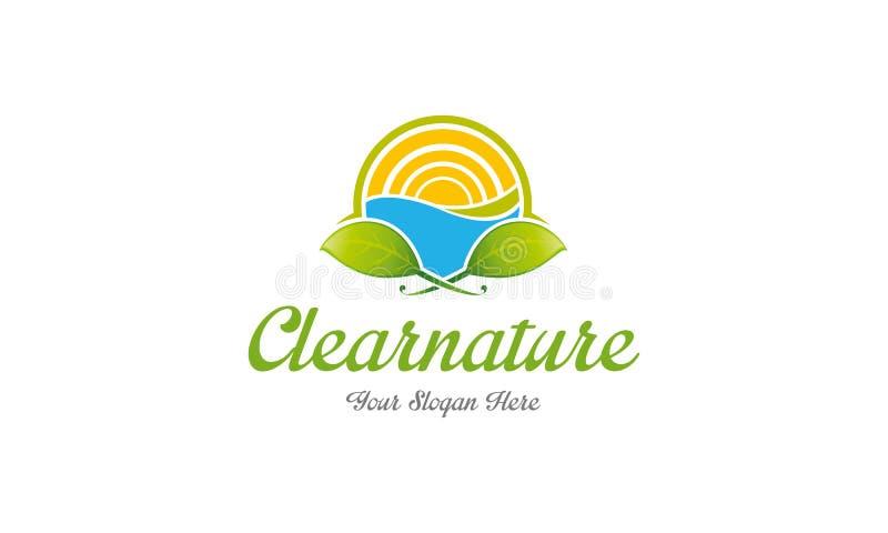 Logotipo claro da natureza ilustração royalty free