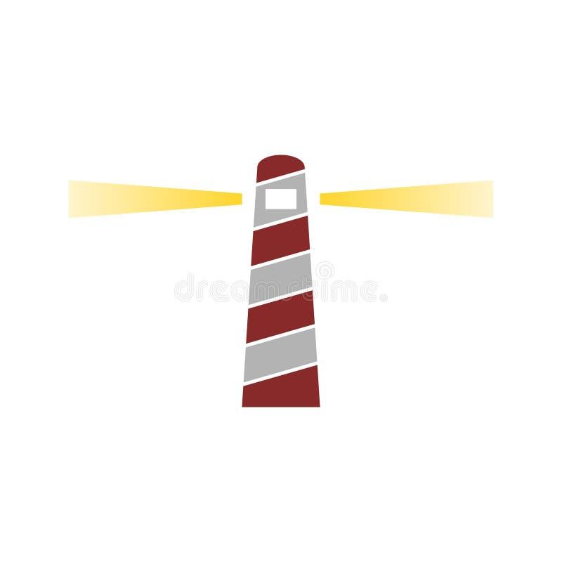 Logotipo coloreado icono del faro fotos de archivo libres de regalías