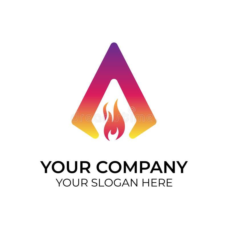Logotipo colorido abstrato ilustração do vetor