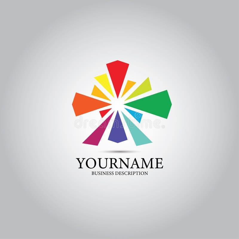 Logotipo colorido circular do projeto ilustração royalty free