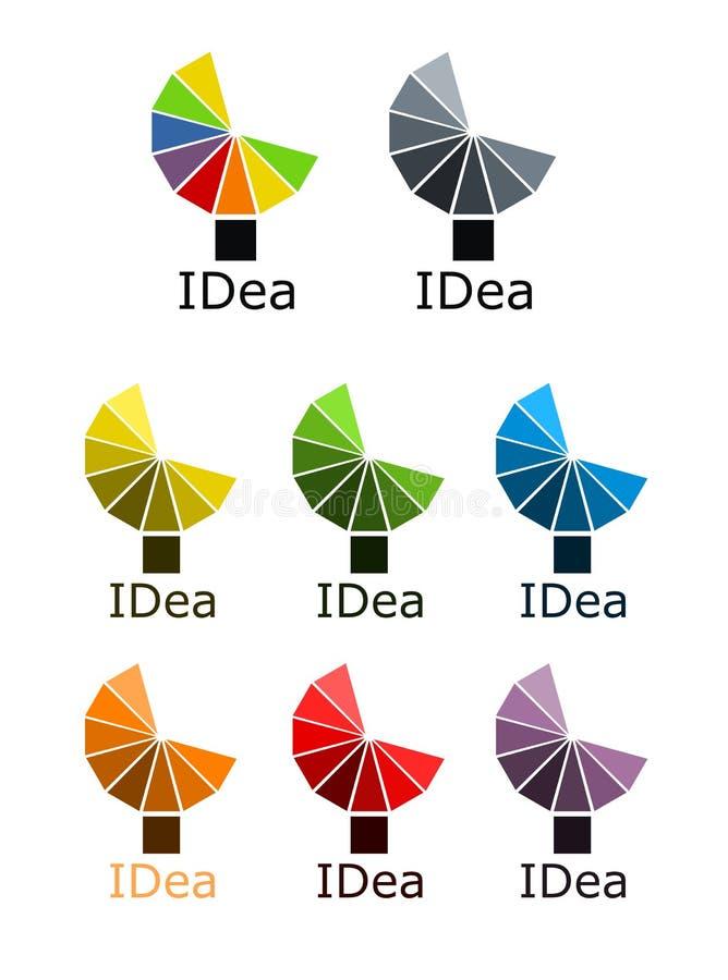 logotipo colorido da lâmpada da carga ilustração royalty free