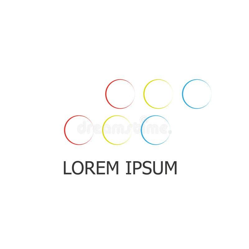 Logotipo colorido del negocio de los círculos libre illustration