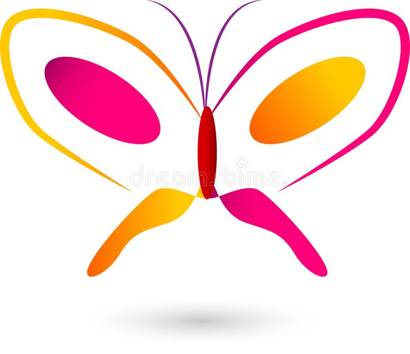 Logotipo colorido del vector de la mariposa libre illustration