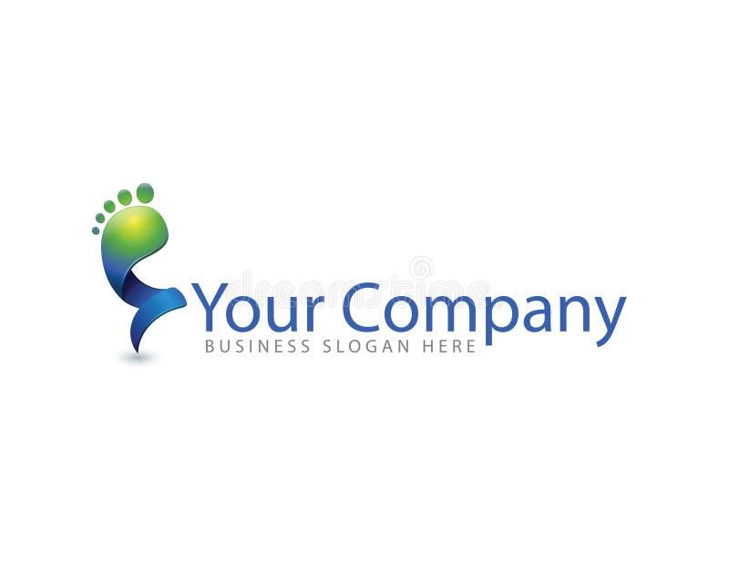 Logotipo colorido do cuidado de pé fotos de stock royalty free
