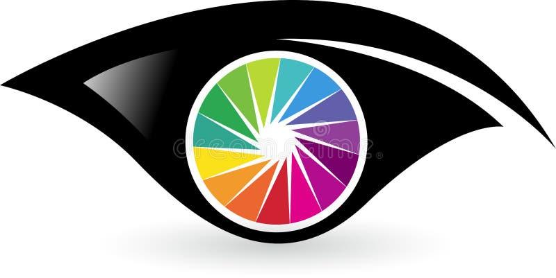 Logotipo colorido do olho ilustração stock
