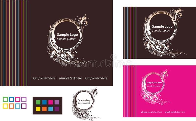 Logotipo com cartão e molde do Web ilustração royalty free