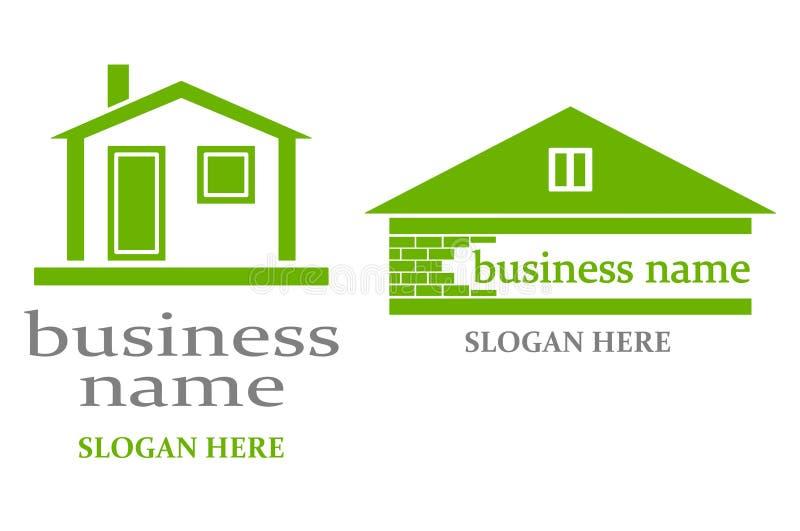 Logotipo com casa. ilustração royalty free