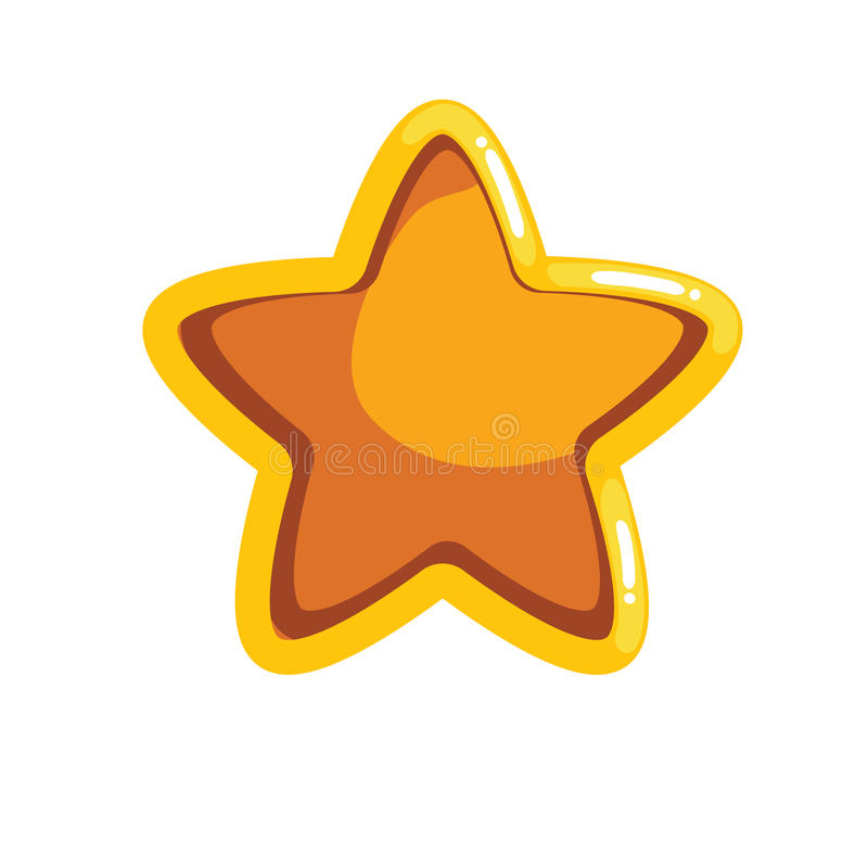 Logotipo com a estrela do sulco dos desenhos animados ilustração do vetor
