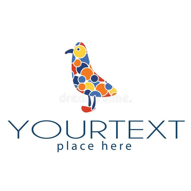 Logotipo com gaivota imagens de stock
