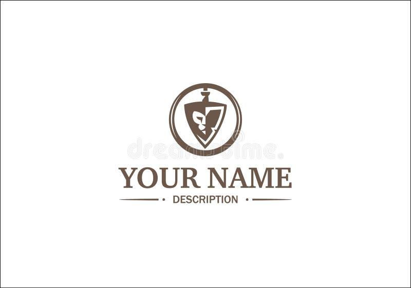 Logotipo com leão fotografia de stock royalty free