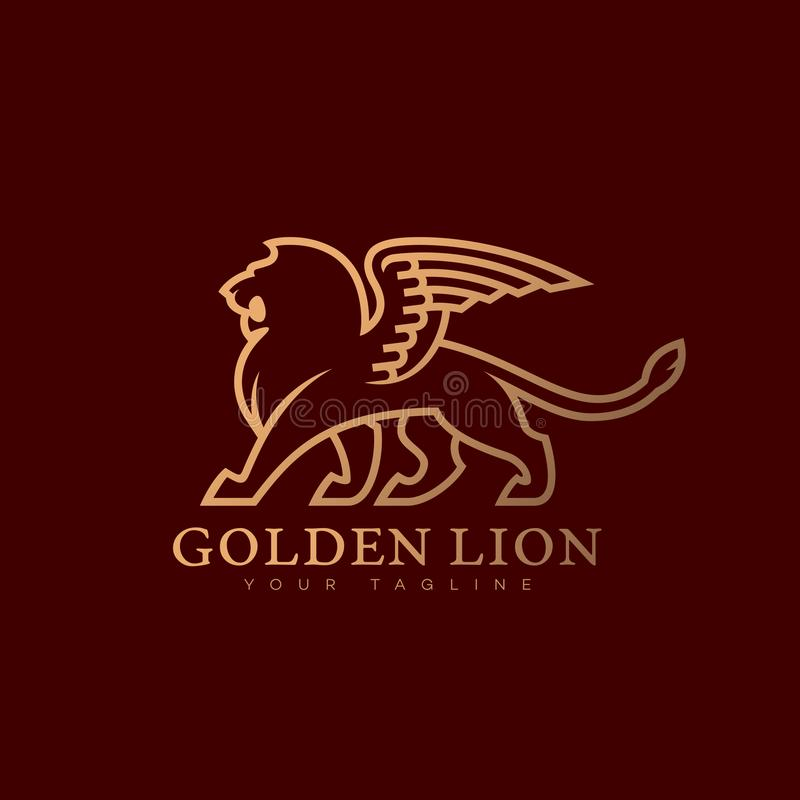 Logotipo con alas del león libre illustration