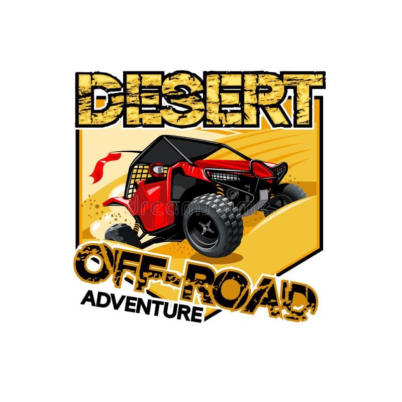 Logotipo con errores campo a través de ATV, aventura del desierto libre illustration