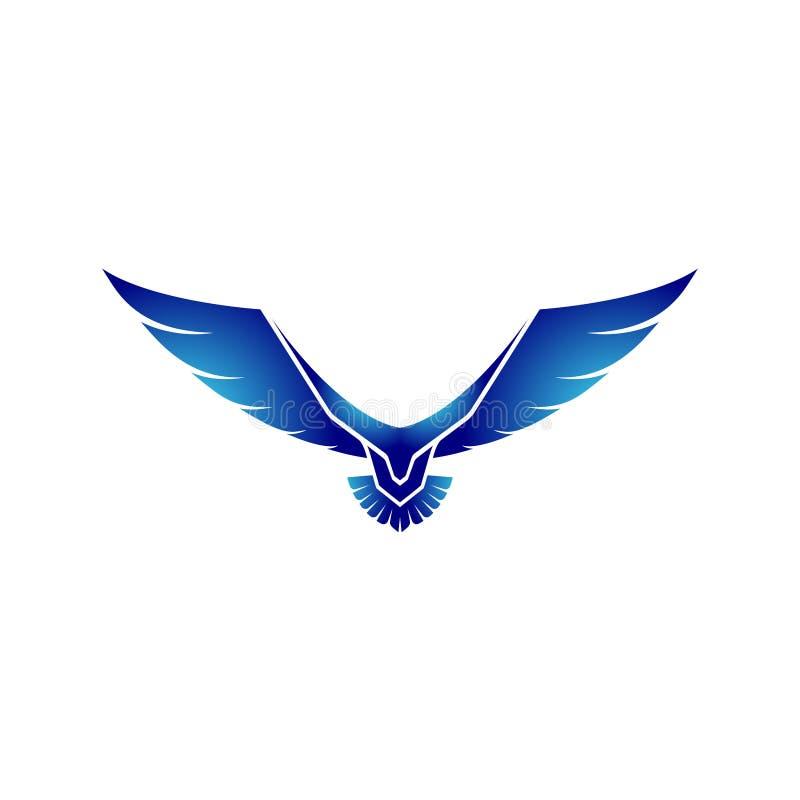 Logotipo con los conceptos futuros de la tecnolog?a - vector de Eagle stock de ilustración