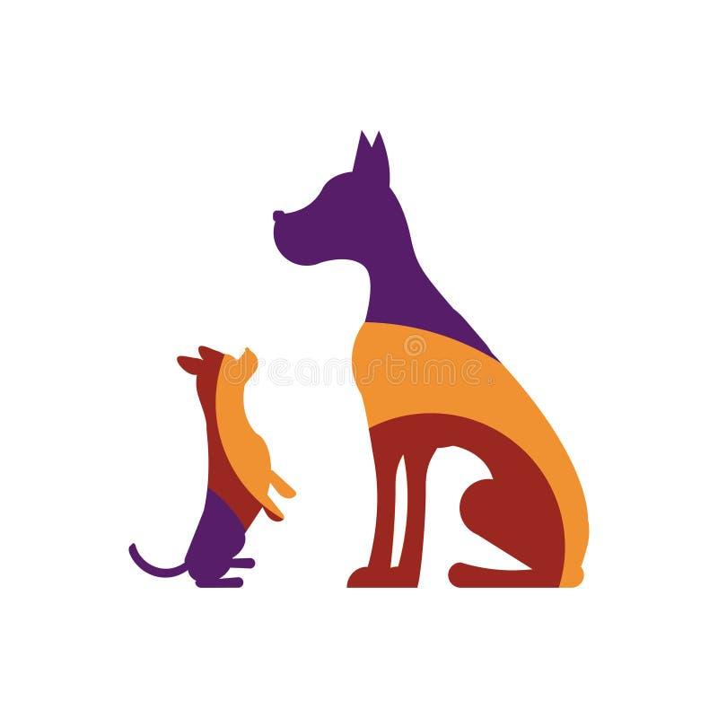 Logotipo con los perros libre illustration