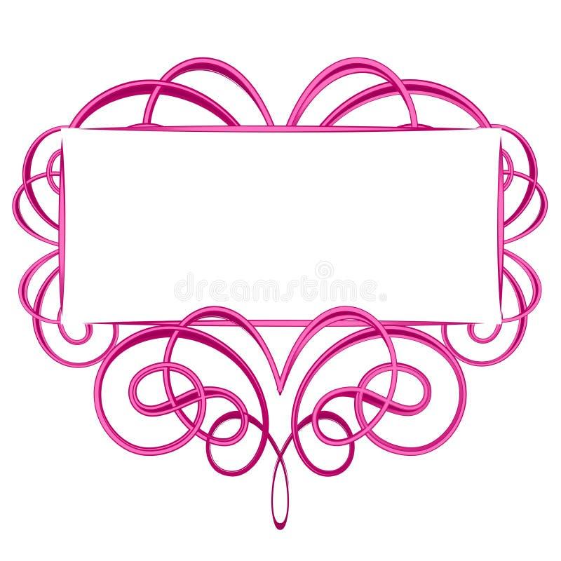 Logotipo cor-de-rosa decorativo do Flourish ilustração royalty free