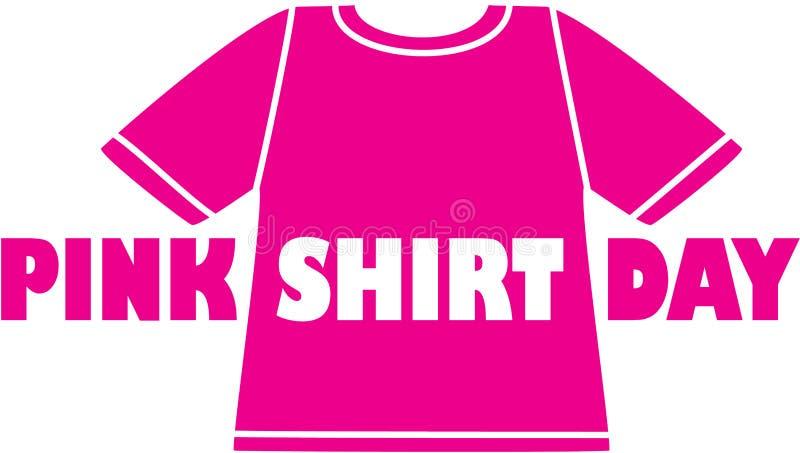 Logotipo cor-de-rosa do dia da camisa ilustração do vetor