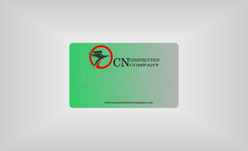 Logotipo corporativo simple del diseño de tarjeta stock de ilustración
