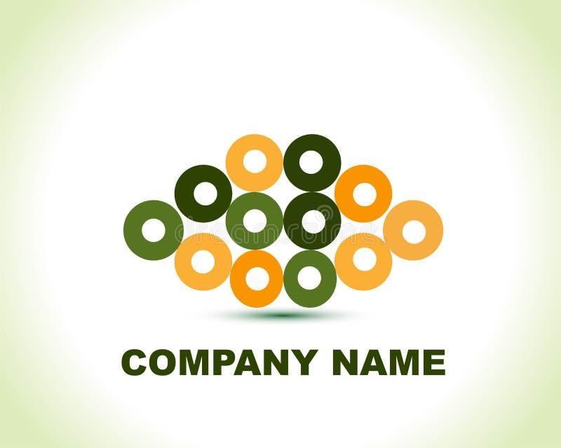 Logotipo creativo abstrato do círculo ilustração do vetor