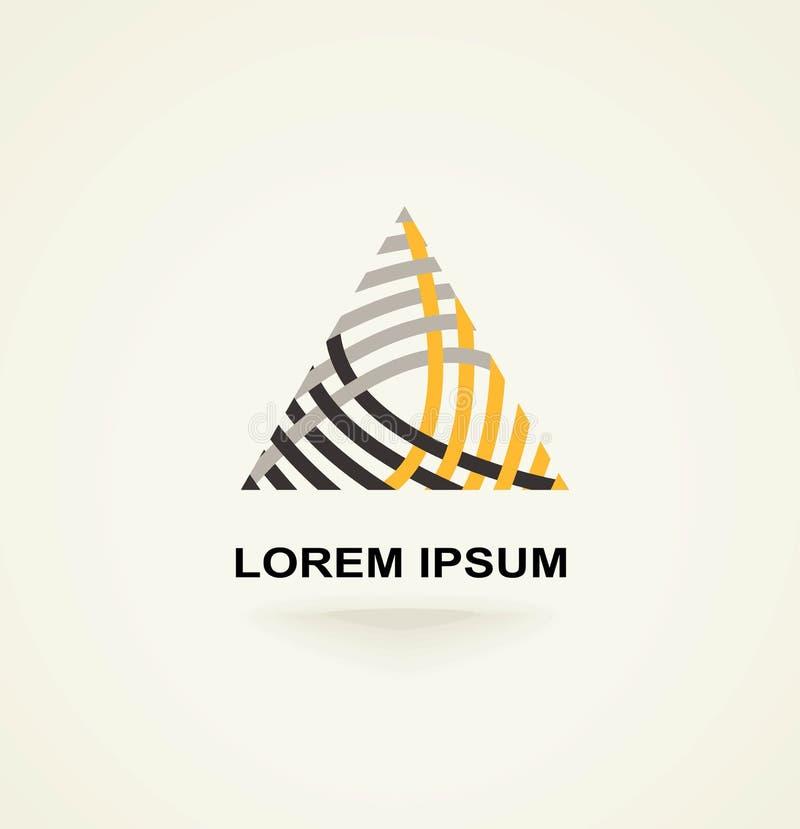 Logotipo creativo conceptual de la plantilla del icono del triángulo del extracto del vector de la tecnología libre illustration