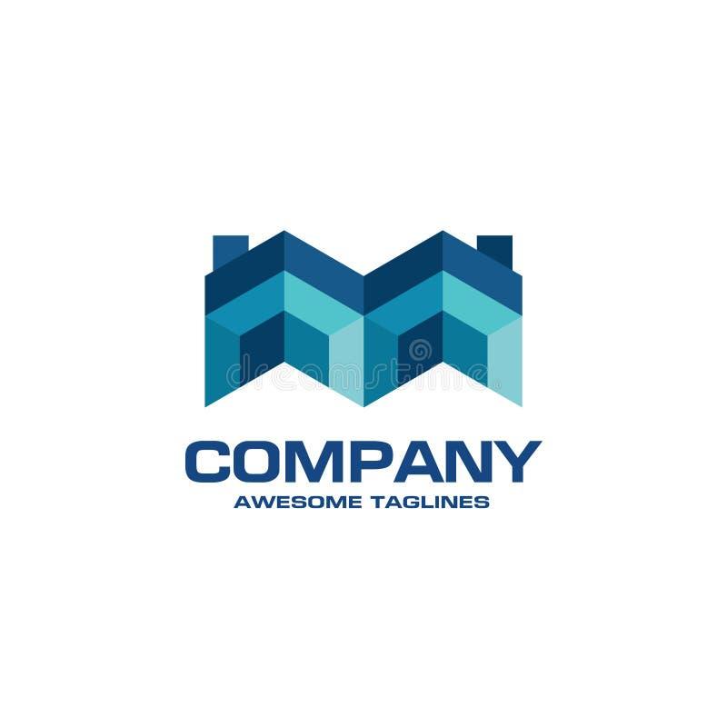 Logotipo creativo de Real Estate ilustración del vector