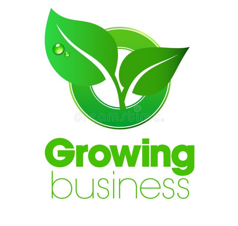 Logotipo crescente da folha