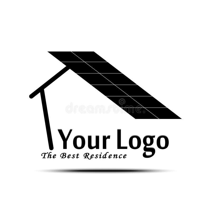 Logotipo criativo da residência do projeto Marcagem com ferro quente minimalista ilustração do vetor