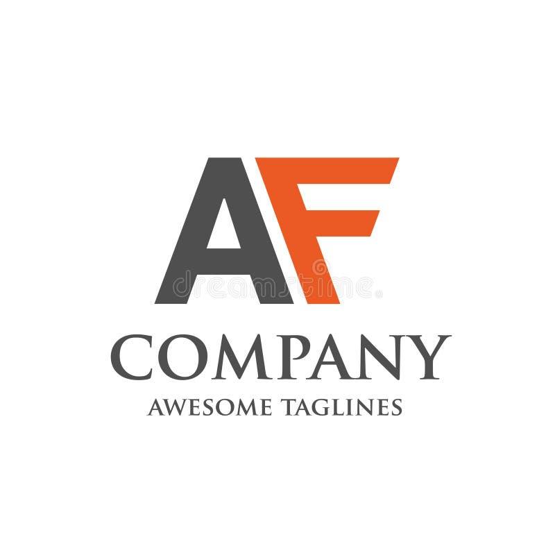 Logotipo criativo do AF da letra ilustração do vetor