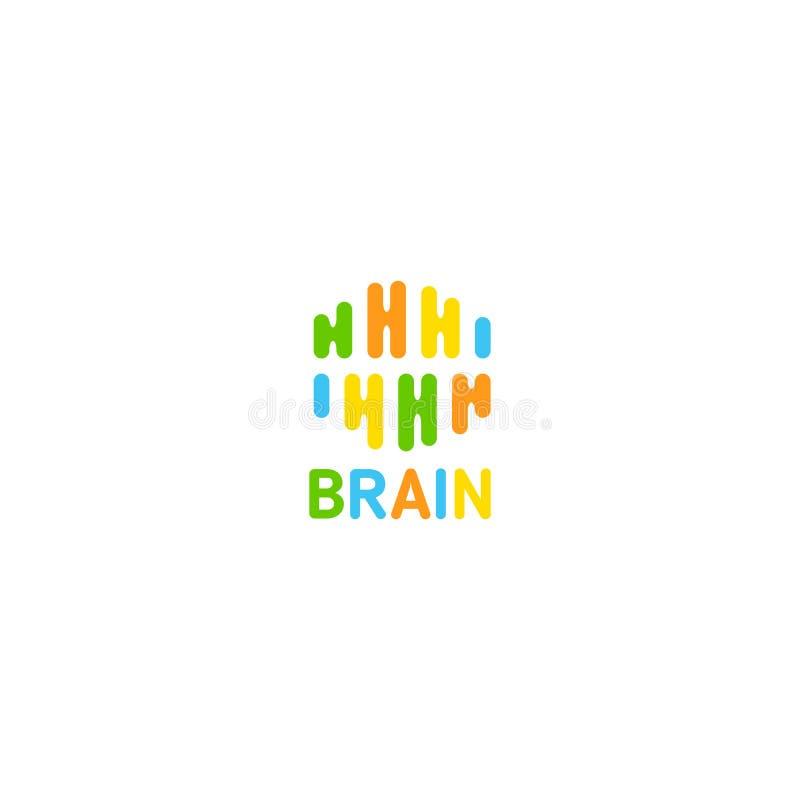 Logotipo criativo do linea do cérebro da arte Logotype do clique da ideia do vetor ilustração royalty free