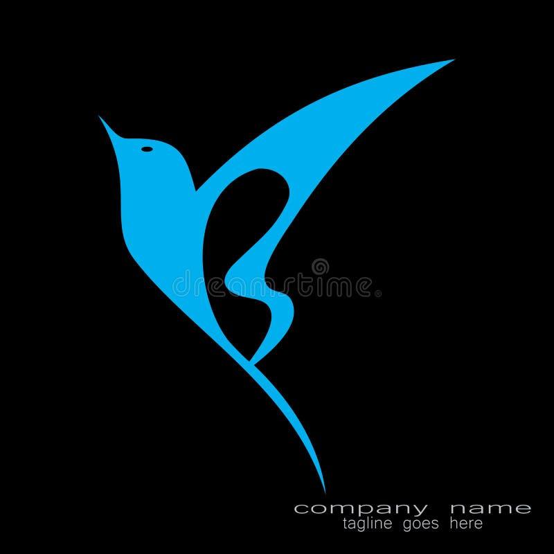Logotipo criativo do pássaro do projeto de amostra ilustração stock