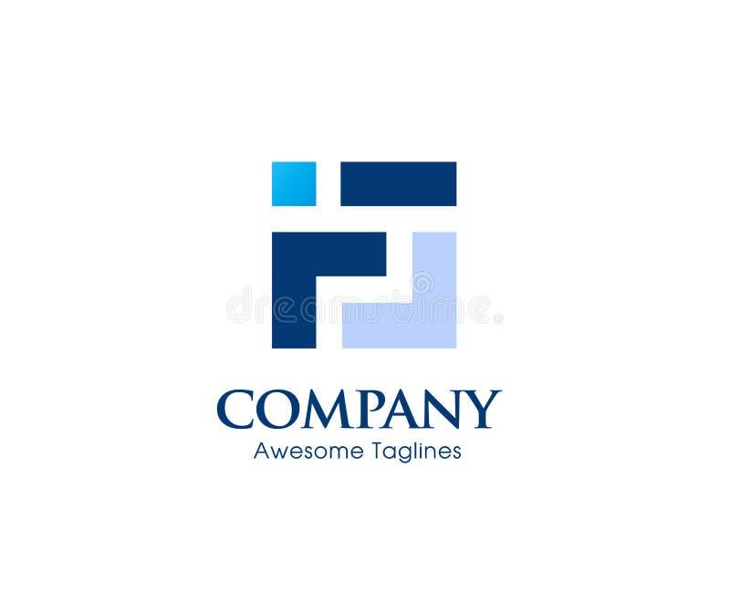 Logotipo criativo do quadrado da letra F ilustração royalty free