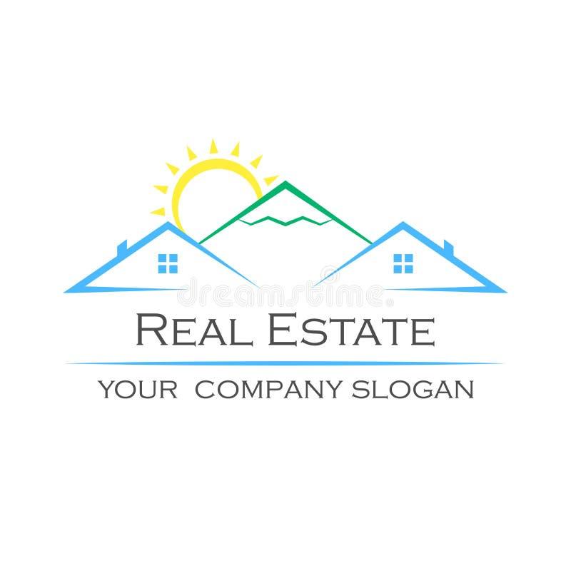 Logotipo criativo do vetor Ícone de Real Estate ilustração royalty free