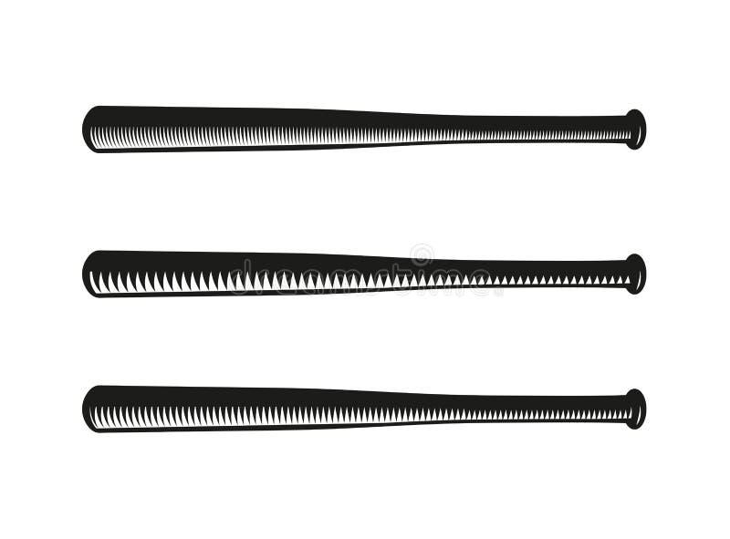 logotipo cruzado color negro abstracto de los bates de béisbol ilustración del vector