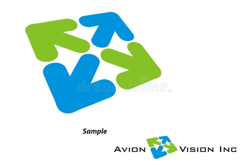 Logotipo - curso/turismo/companhia de Avaition ilustração royalty free