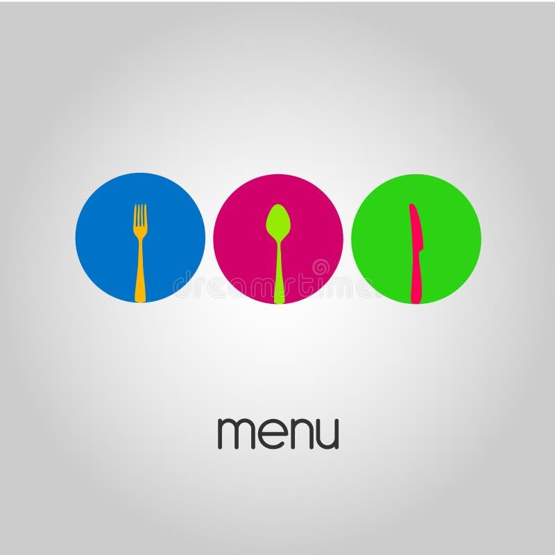 Logotipo - menu ilustração royalty free