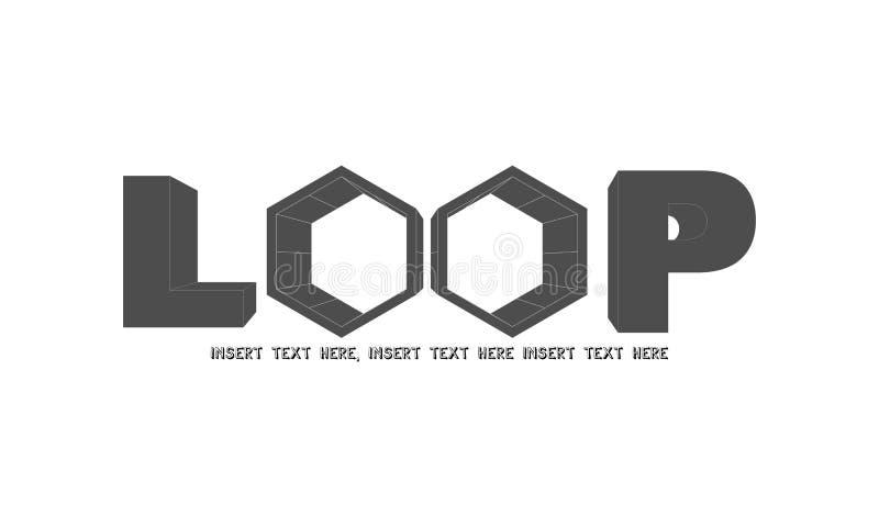 Logotipo 3d do laço foto de stock royalty free