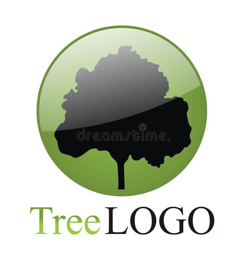 Logotipo da árvore ilustração royalty free