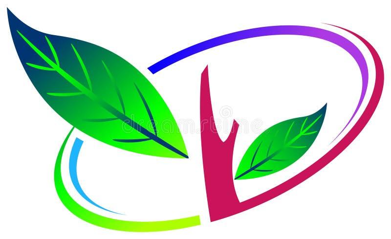 Logotipo da árvore ilustração do vetor