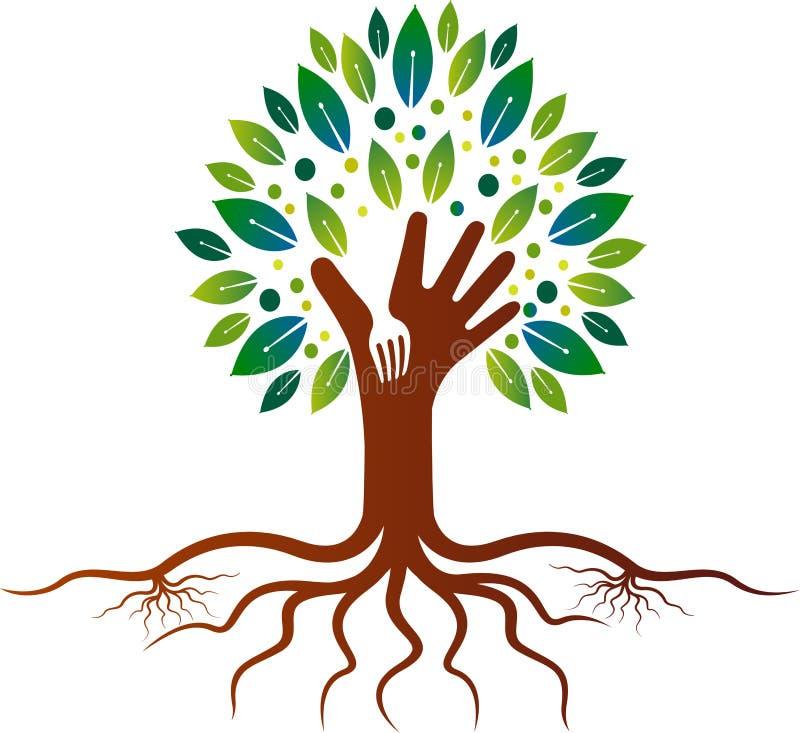 Logotipo da árvore do restaurante ilustração royalty free