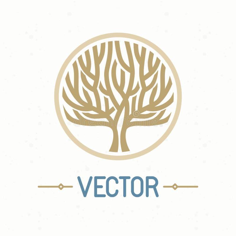Logotipo da árvore do vetor ilustração stock