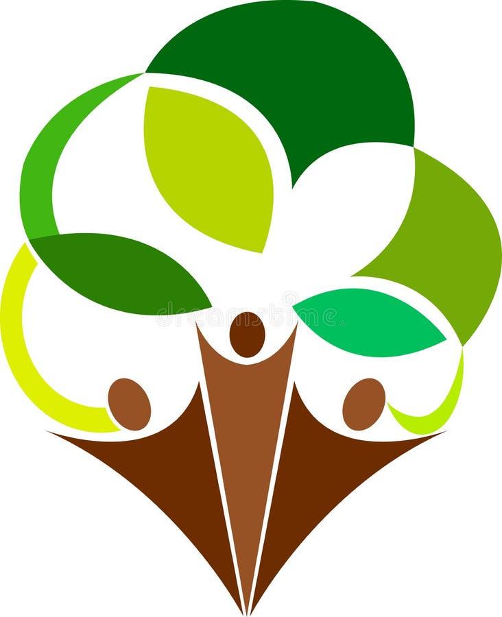 Logotipo da árvore dos pares ilustração royalty free