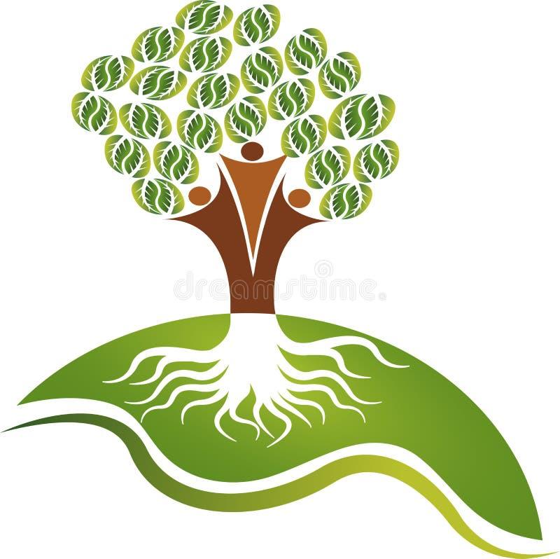 Logotipo da árvore dos pares ilustração do vetor