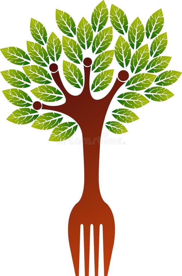 Logotipo da árvore da forquilha ilustração do vetor