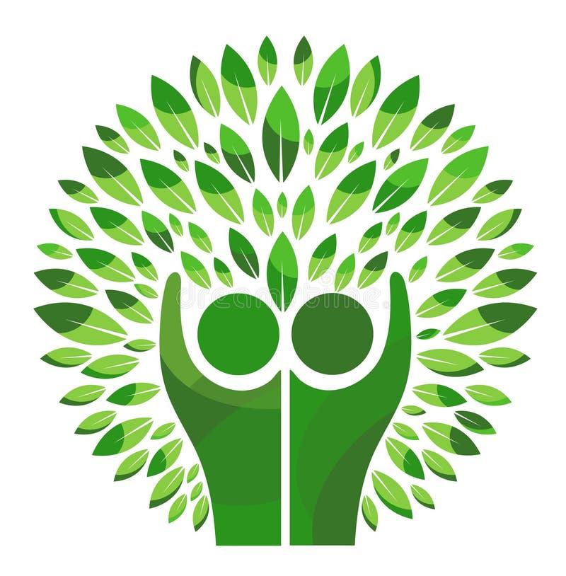 Logotipo da árvore genealógica ilustração do vetor