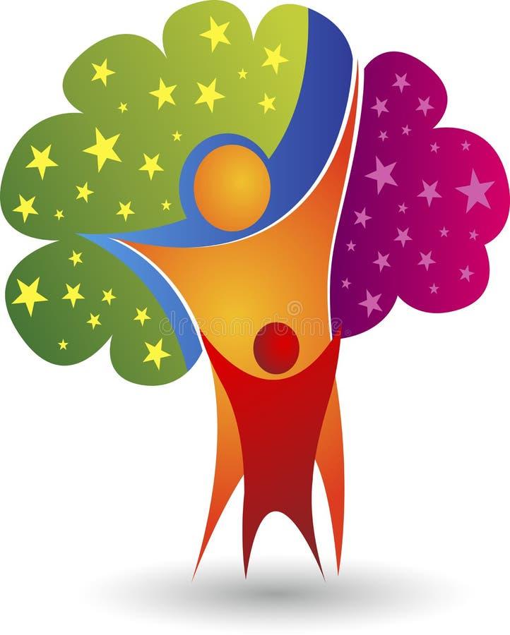 Logotipo da árvore genealógica ilustração royalty free